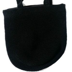 The Sak Bags - The Sak Black Crochet Bucket Purse  Bag